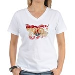 French Polynesia Flag Women's V-Neck T-Shirt