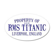 Titanic 22x14 Oval Wall Peel