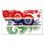 Gambia Flag Sticker (Rectangle 10 pk)