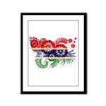Gambia Flag Framed Panel Print