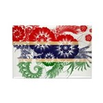 Gambia Flag Rectangle Magnet (100 pack)