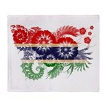 Gambia Flag Throw Blanket