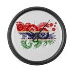 Gambia Flag Large Wall Clock