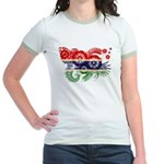 Gambia Flag Jr. Ringer T-Shirt