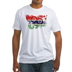 Gambia Flag Fitted T-Shirt