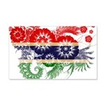 Gambia Flag 22x14 Wall Peel