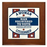 A Woman Votes Framed Tile