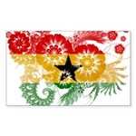Ghana Flag Sticker (Rectangle 50 pk)