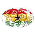 Ghana Flag Sticker (Oval 10 pk)