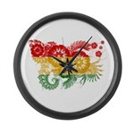 Ghana Flag Large Wall Clock