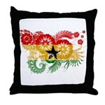 Ghana Flag Throw Pillow
