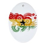 Ghana Flag Ornament (Oval)