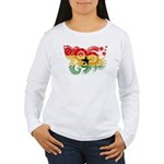 Ghana Flag Women's Long Sleeve T-Shirt