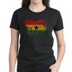 Ghana Flag Women's Dark T-Shirt