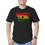 Ghana Flag Men's Fitted T-Shirt (dark)