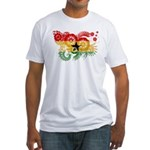 Ghana Flag Fitted T-Shirt