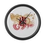 Gibraltar Flag Large Wall Clock