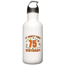 75th Party Time! Water Bottle