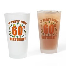 60th Party Time! Drinking Glass