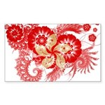 Hong Kong Flag Sticker (Rectangle 50 pk)