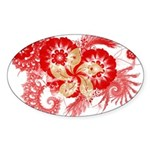 Hong Kong Flag Sticker (Oval 50 pk)