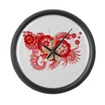 Hong Kong Flag Large Wall Clock