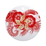 Hong Kong Flag Ornament (Round)