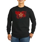 Hong Kong Flag Long Sleeve Dark T-Shirt