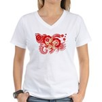 Hong Kong Flag Women's V-Neck T-Shirt