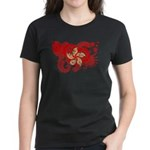 Hong Kong Flag Women's Dark T-Shirt