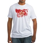 Hong Kong Flag Fitted T-Shirt