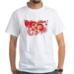 Hong Kong Flag White T-Shirt