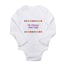 Yoga mom Long Sleeve Infant Bodysuit