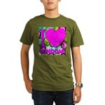 I (Heart) Condoms Organic Men's T-Shirt (dark)