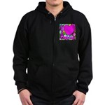 I (Heart) Condoms Zip Hoodie (dark)
