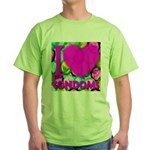 I (Heart) Condoms Green T-Shirt