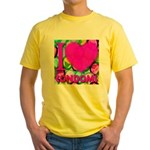 I (Heart) Condoms Yellow T-Shirt