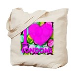 I (Heart) Condoms Tote Bag