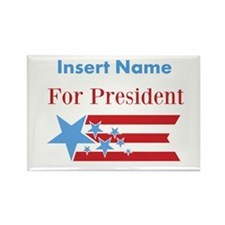 Personalized For President Rectangle Magnet