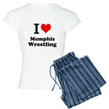 Cute I heart memphis wrestling Pajamas