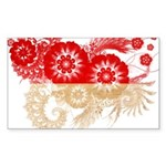 Indonesia Flag Sticker (Rectangle 50 pk)