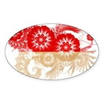 Indonesia Flag Sticker (Oval)