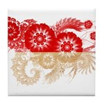 Indonesia Flag Tile Coaster