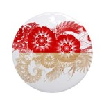 Indonesia Flag Ornament (Round)