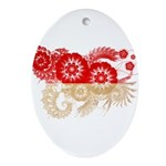 Indonesia Flag Ornament (Oval)