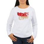 Indonesia Flag Women's Long Sleeve T-Shirt