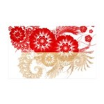 Indonesia Flag 38.5 x 24.5 Wall Peel