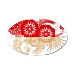 Indonesia Flag 22x14 Oval Wall Peel