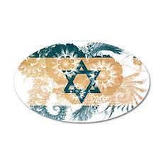 Israel Flag 22x14 Oval Wall Peel