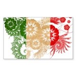 Italy Flag Sticker (Rectangle 10 pk)